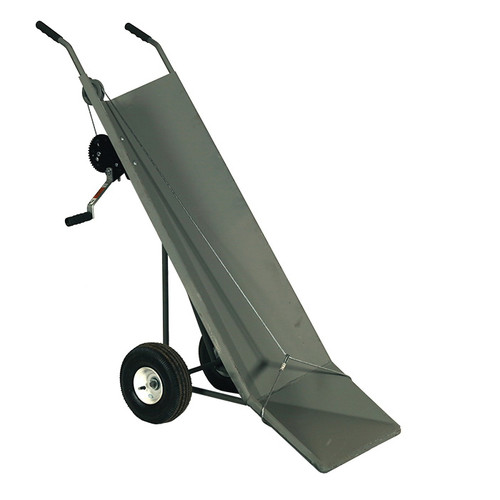 Solid Panel Carcass Cart With Winch, 1100 lb Load, 17 in W x 56 in H