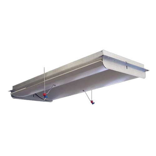 AP® ACI-4000 2-Way Actuated Attic Air Inlet With Plastic Doors and Galvanized Frame, 46-1/2 in L x 21-1/2 in W