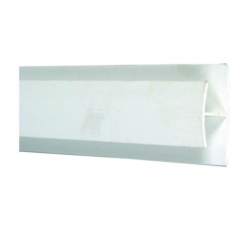 PVC Divider Strip (White Vinyl) 15/32 Inch x 8 Feet