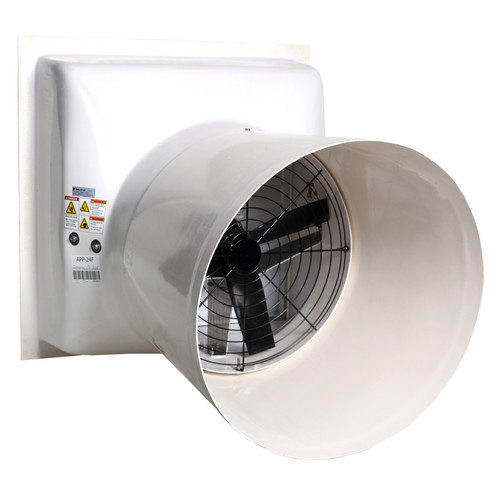 AP® Performer Direct Drive Variable Speed Shutter Fan With Cone, 24 in Dia Blade, 115/230 VAC, 7110 cfm, 34-5/8 in W