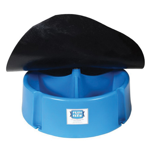 Hawkeye Dura-Bull® PLMF 3-Compartment 40 Head Weather Resistant Mineral Feeder With Flap, 50/200 lb, Polyethylene