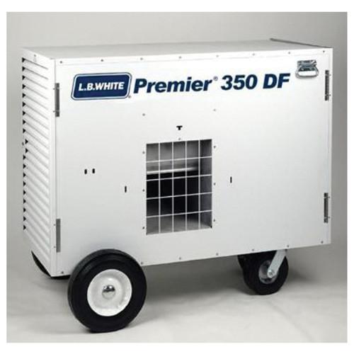 L.B. White® Premier® Dual Fuel Ductable Portable Unit Heater, 350000 Btu/hr, 350 cu-ft/hr Fuel