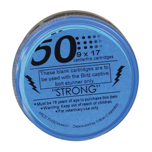"""Blue """"Strong"""" Replacement Cartridge, For Blitz Stun Gun, 410 mg"""