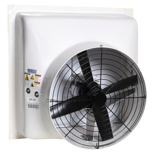 AP® Performer Direct Drive Variable Speed Shutter Fan, 24 in Dia Blade, 115/230 VAC, 6002 cfm, 34-5/8 in W