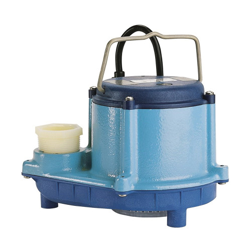 Little Giant® 8 Series Sump Pump, 54 gpm, 7 to 10 in Inlet x 1 to 4 in Outlet, 4/10 hp, Cast Iron