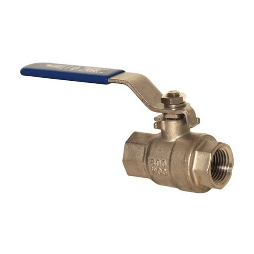 1/2 in, 800 PSI Stainless Steel Ball Valve