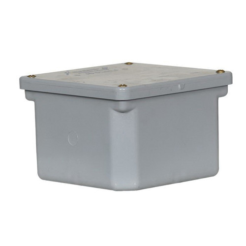 PVC Junction Box With Threaded Brass Screws, 6 in x 6 in x 4 in