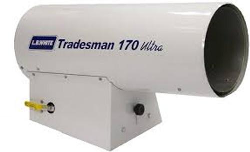 L.B. White® Tradesman® Portable Forced Stackable Air Heater, 125000 to 170000 Btu/hr, 115 VAC, 1/3.7 A, 425.5/241.5 W