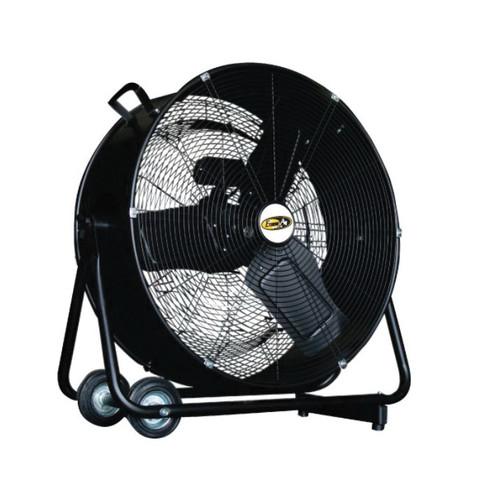 J&D Manufacturing Direct Drive Premium Turbo Dram Fan, 24 in Aluminum Blade, 7760/5500 cfm, 115 VAC, 1.6/1.76 A