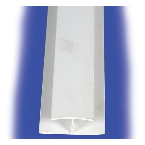 PVC White Divider Strip, 0.09 in THK, 8 ft L