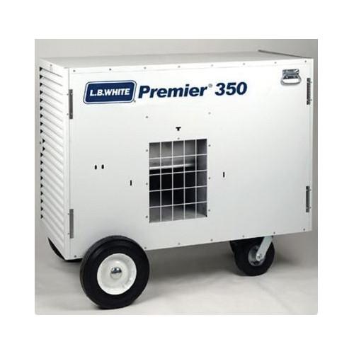 L.B. White® Premier® Ductable Portable Unit Heater, 175000/350000 Btu/hr, 9/25 A, 1 hp, LP Gas
