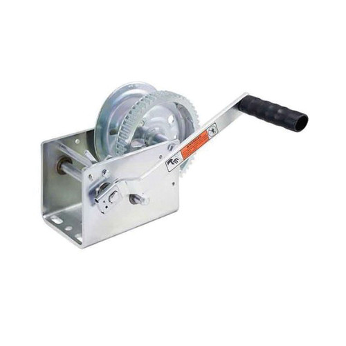 Dutton-Lainson® 2-Speed Standard Winch With Handle and Clamp Kit, 3200 lb Load, Zinc TUFFPLATE