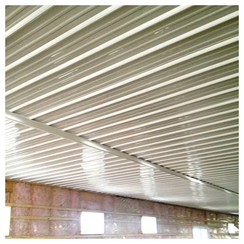 PVC White Corrugated Panel, 12 ft 2 in L x 3 ft W
