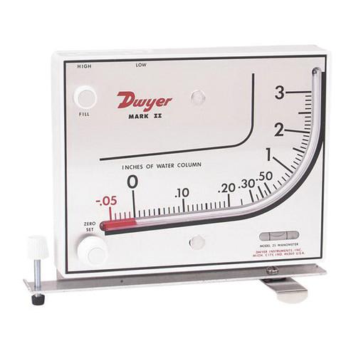 Dwyer® Mark II Series Manometer, Manual Static Pressure Gauge