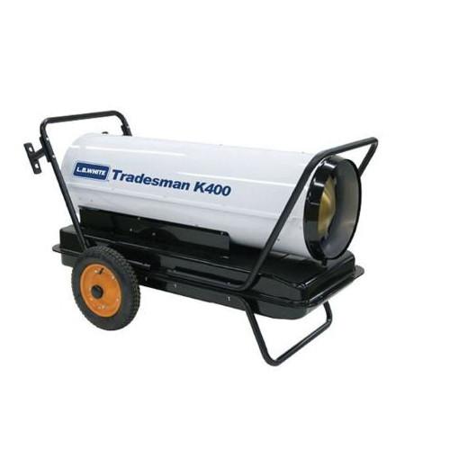 L.B. White® Tradesman® Portable Forced Air Heater, 400000 Btu/hr, 4.4 A, 1/2 hp