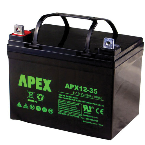 12 Volt Battery Deep Cycle Replacement Rechargeable Battery, Sealed Lead Acid, 35 Ah, U1, for Hercules