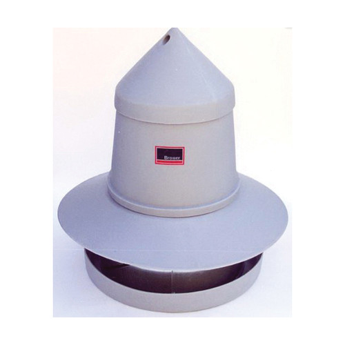 Brower® Game Bird Feeder, 175 lb Feed Capacity, 125 Pheasant Bird Capacity, Polyethylene