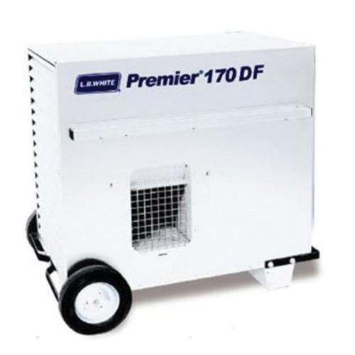 L.B. White® Premier® Dual Fuel Ductable Portable Unit Heater, 170000 Btu/hr, 170 cu-ft/hr Fuel