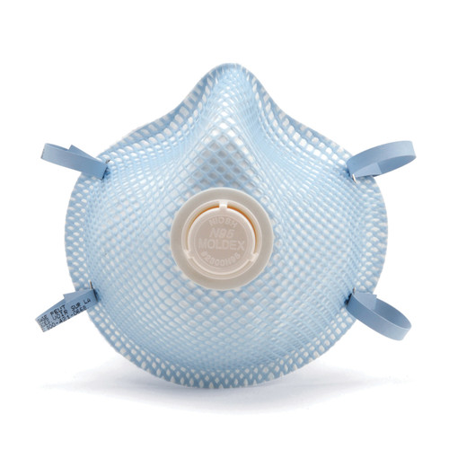 Moldex® 2300 Disposable Particulate Respirator Mask With Exhale Valve Pack of 10 Resists: Dust and Non-Oil Based Particles
