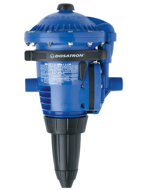Dosatron DM11F Medicator, 0.02 to 11 gpm, 3/4 in Connection, 1.5 to 85 psi