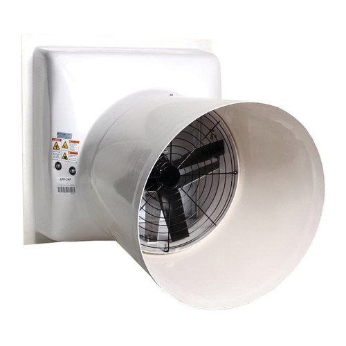 AP® Performer Direct Drive Variable Speed Shutter Fan With Cone, 18 in Dia Blade, 115/230 VAC, 4890 cfm, 28-3/8 in W