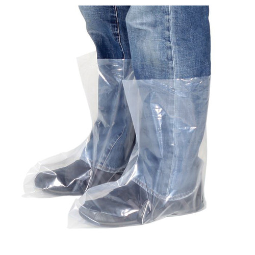 Disposable Poly Clear X-Large Work Boot Cover 25 Pair