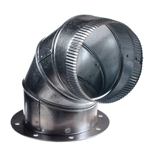 AP® 6 Inch Galvanized Exhaust Elbow with Flange