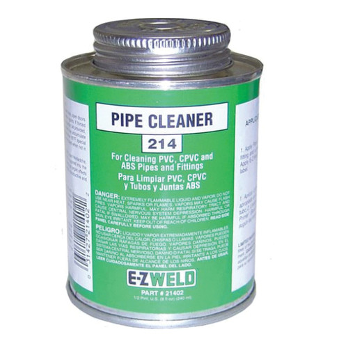 EZ Weld PVC Cleaner, 1/2 Pint