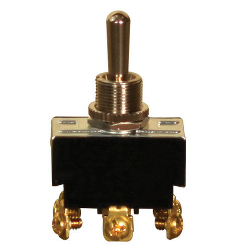 3-Way Heavy Duty On-Off-On Toggle Switch, 125/250 VAC, 10/20 A, 1-1/2 hp, DPDT