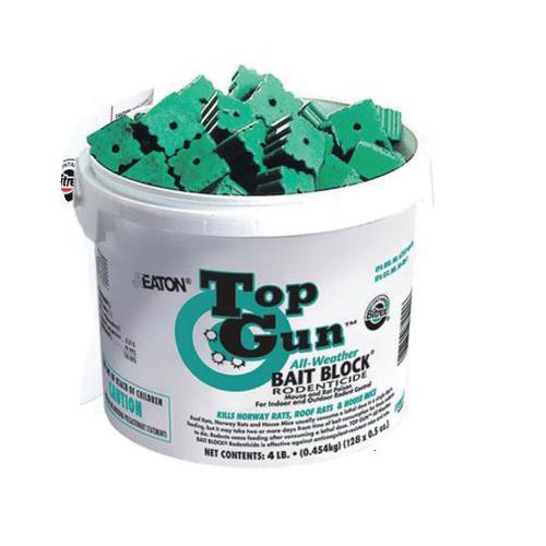 TOP GUN™ Bait Block, 4 lb, Pail, Solid, Green, Mild