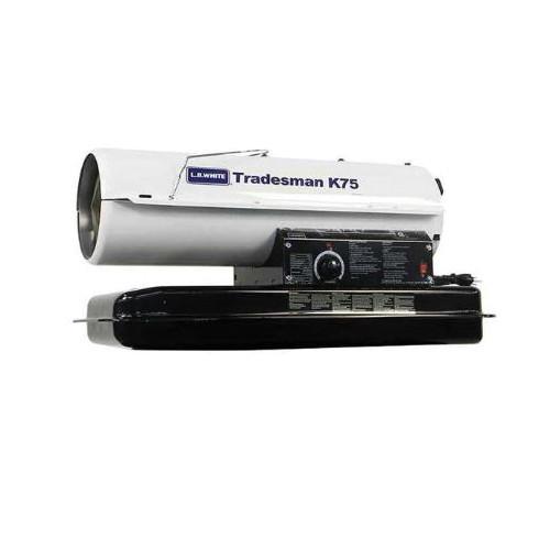 L.B. White® Tradesman® Portable Forced Air Heater, 75000 Btu/hr, 1.6 A, 1/8 hp