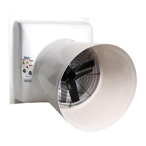 AP® Performer Belt Drive Shutter Fan With Cone, 36 in Dia Blade, 11280 cfm, 46-3/4 in W
