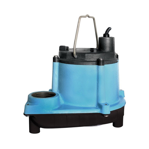 Little Giant® 6 Series Sump Pump, 46 gpm, 7 to 10 in Inlet x 1 to 4 in Outlet, 1/3 hp, Cast Iron