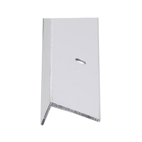 White Aluminum Double Angle, 1/2 x 1 in, 8 ft L