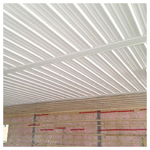 PVC White Corrugated Panel, 20 ft 4 in L x 3 ft W