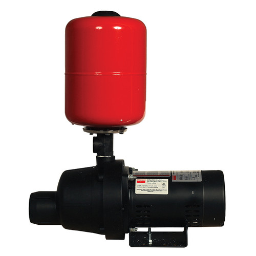 DAYTON® Shallow Well Jet Pump System, 4.4 gpm/2.3 gpm, 1-1/4 in NPT Inlet x 1 in NPT Outlet, 1/3 hp, Thermoplastic
