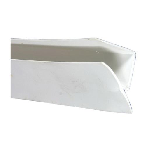 White PVC Inside Corner, 8 ft L