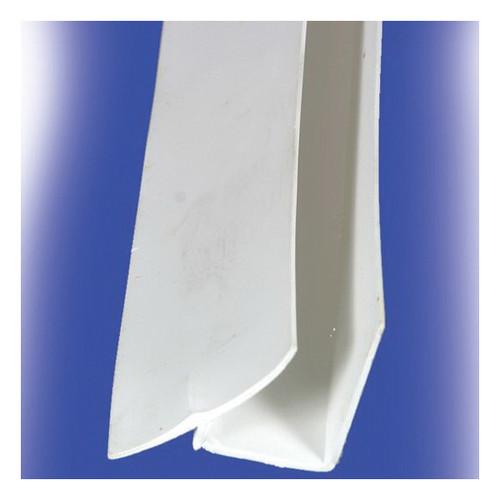 White PVC Outside Corner, 0.09 in THK, 8 ft L