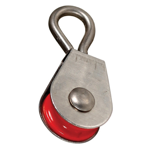 3/4 in Nylon Pulley with Stainless Steel Swivel, 7/8 in OD