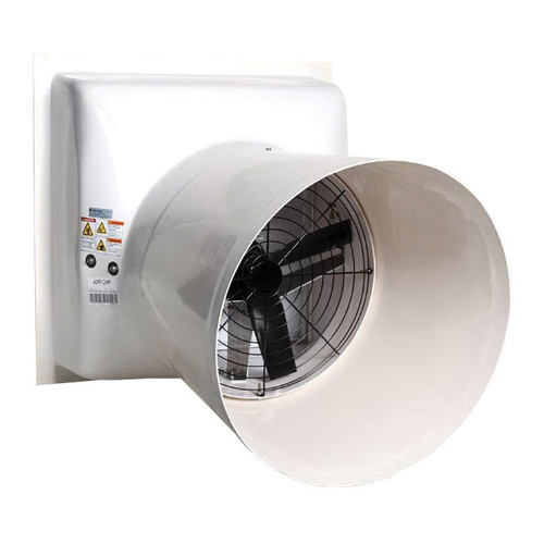 AP® Performer Direct Drive Variable Speed Shutter Fan With Cone, 14 in Dia Blade, 115/230 VAC, 2710 cfm, 22-1/2 in W
