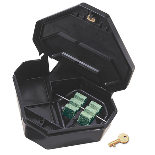 JT Eaton™ Gold Key™ Rat Depot™ Rat Size Tamper Resistant Bait Station, 11.4 in L x 10-1/4 in W x 3-1/2 in H, Plastic