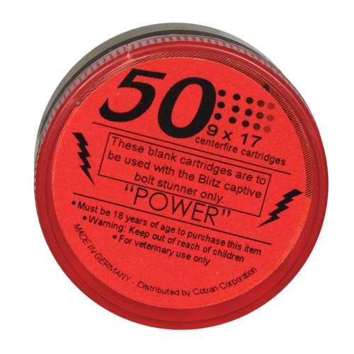 Red Power Replacement Stunner Cartridge, For Blitz Stun Gun, 460 mg