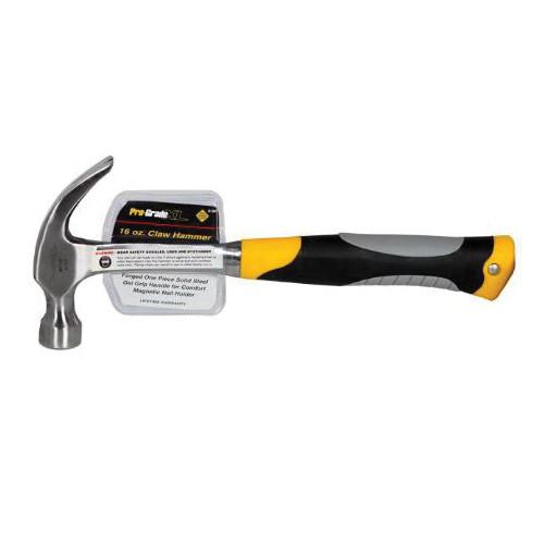 16 oz Claw Hammer With Gel Grip Steel Handle