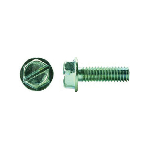 Bolt, Imperial, #10-24, Steel, Zinc Plated, Hex Head
