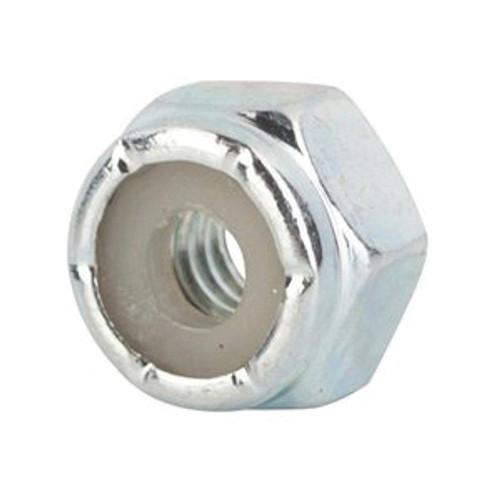 NM Series Hex Lock Nut, Imperial, #10-34, Steel, Zinc Plated, Grade 2