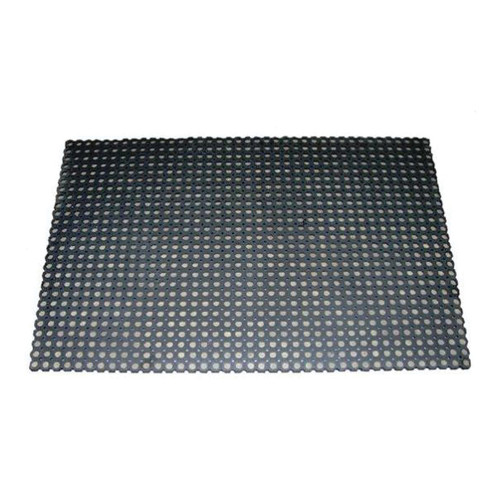 Rubber Open Slot Boar Mat, 39 in L x 59 in W x 3/4 in THK, Rubber