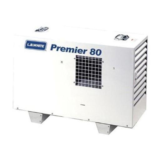 L.B. White® Premier® Ductable Portable Unit Heater, 80000 Btu/hr, 1.5/5 A, 1/8 hp, LP Gas
