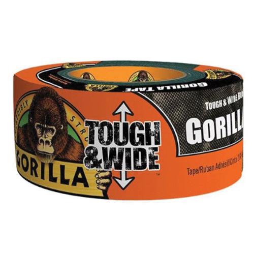 Gorilla® Gorilla Tape, 30 yd L x 3 in W x 17 mm THK, Cloth, Black
