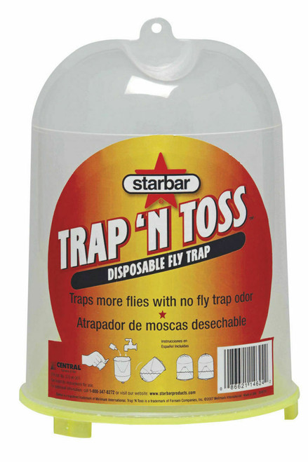 Starbar® Trap 'N Toss™ Disposable Fly Trap, 0.58 oz, Container