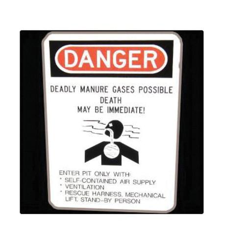 Danger Manure Gas Sign